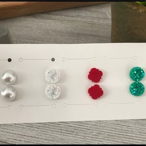 NWT Holiday Druzy Earring Gift Set