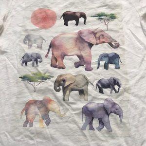 J. Crew Elephant Tee