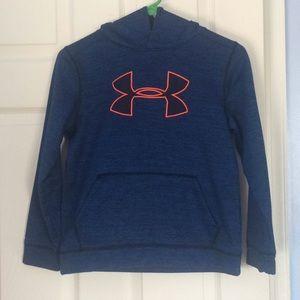 Under armour blue and orange sweatshirt hoodie