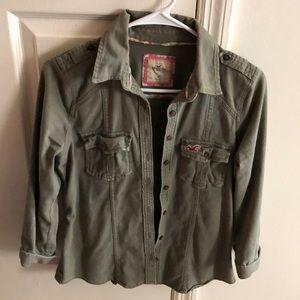 Hollister Camo Green Jacket