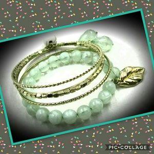 Adorable & Charming Mint Green bangle bracelet 😍