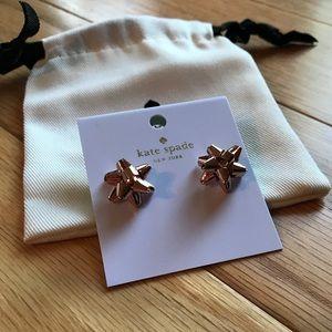🎀NEW🎀KATE SPADE Rosegold Bow Earrings