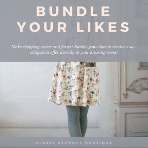 Bundle your likes ❤️ for private offer