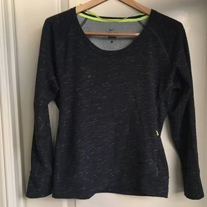 Nike Dri-Fit Charcoal Scoop Neck Sweater