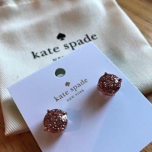 🎀NEW🎀ROSEGOLD Glitter Gumdrop Earrings