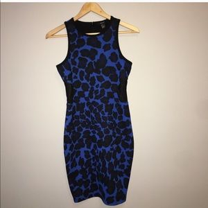 Bodycon Animal Print Dress with cut outs