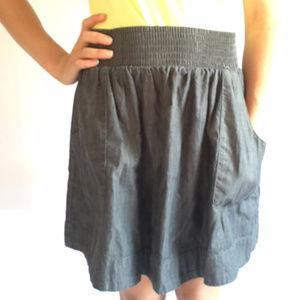 Banana Republic chambray skirt