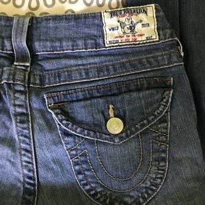 True Religion mid wash jeans