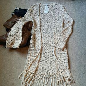 *New York & Company NWT Crochet Cardigan*