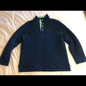 Size Large Lauren James Navy Quilted Pullover