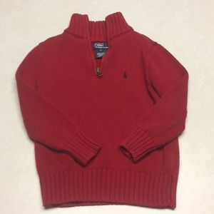 Polo boys sweater in red, size 5