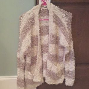 Brand new free people ivory and grey cardigan