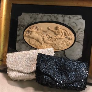 Bundle of 2 Vintage sequined evening clutches