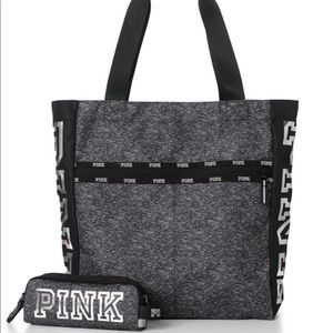 Vs Pink Tote Bag and tech pouch
