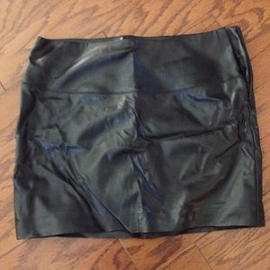 "Express Black ""pleather"" mini skirt"