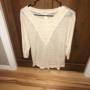 3/4 length light sweater.