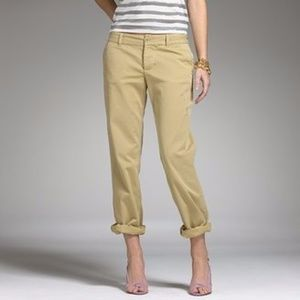 J.Crew Broken in Boyfriend Distressed Chino Pants