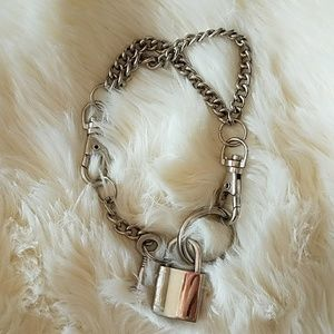 Stainless steel punk bondage bracelet