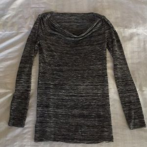 Loft black and gray sweater