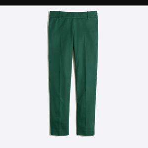 J. Crew Green Cropped Cigarette Pants sz 6