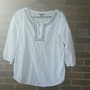 Tunic style blouse.
