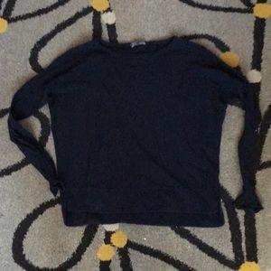 Vince. Cotton blue knit top