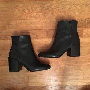 ALDO leather block heel booties