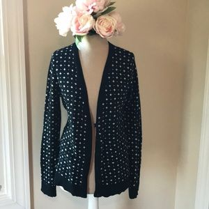 Black and White Button Cardigan