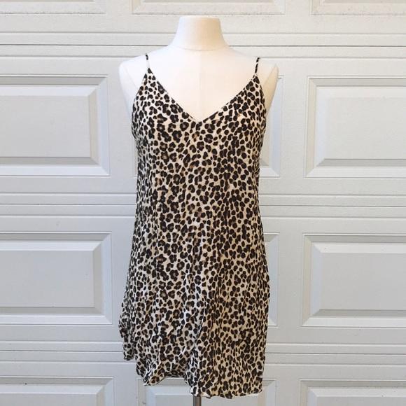 Aritzia Dresses   Skirts - NEW Aritzia Slip Dress Leopard Print Mini 90s c7b98604b