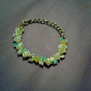 Jewelry - Opal and blue diamond ankle bracelet