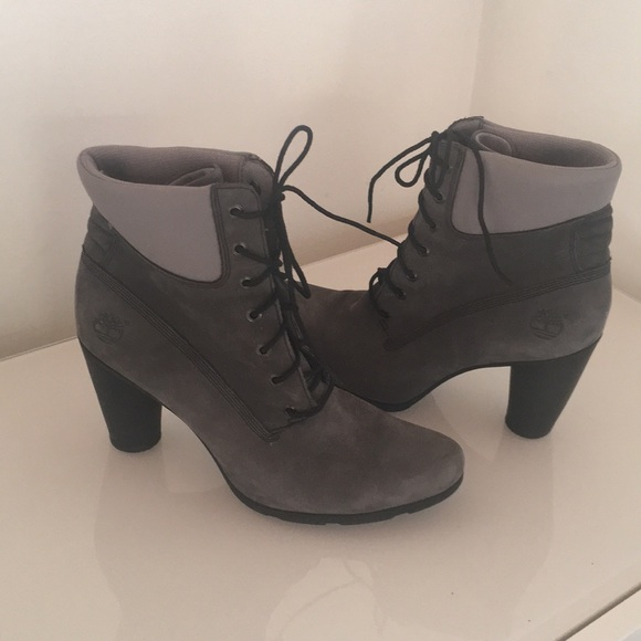 Great Charcoal Gray Timberland Lace Up