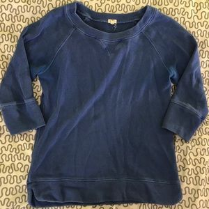 J Crew 3/4 sleeve pullover