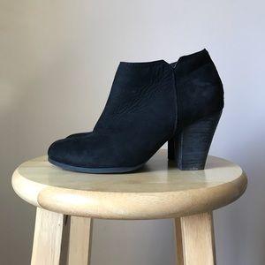 Aldo Black Suade Ankle Boots