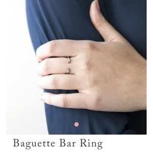 New Baguette Bar Ring by Chloe&Isabel