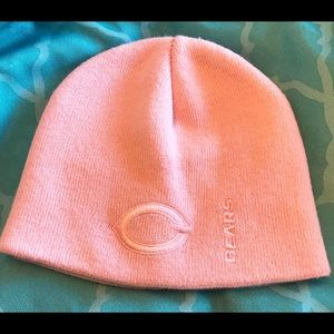 Pink NFL Chicago Bears Winter Beanie Hat One Size