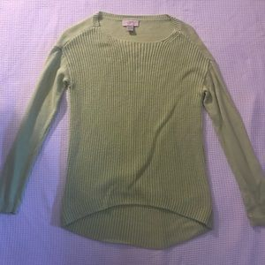 Light green knit sweater