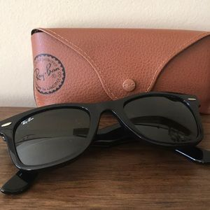 RayBan Wayfair Black Sunglasses NEW