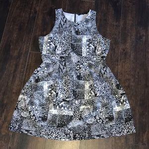 BCBG black and white dress