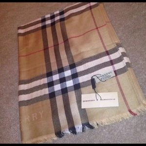 New Authentic Burberry Cashmere Scarf