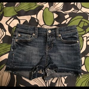 Girls 7 For All Mankind denim shorts size 6
