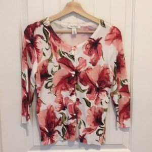 WHBM Cardigan Floral Print Medium