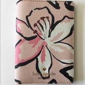 Kate Spade Pink Floral Passport Holder Wallet