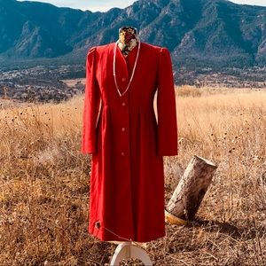 Vintage Red Wool Coat