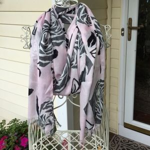 NWT Kate Spade aires rose scarf pink and black