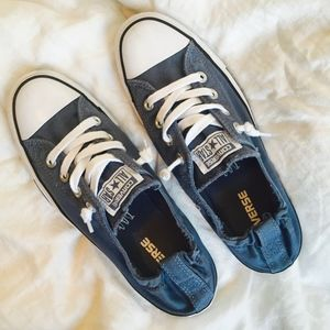 So Cute Like-New Indigo Slip on Converse Sneaks