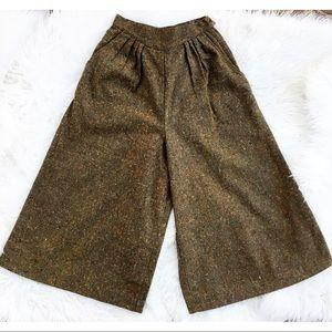 Vintage 70s 80s Wide Leg Crop Pants Culottes 24