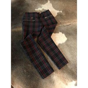 ZARA plaid skinny pants - SIZE S (fits like a 6)