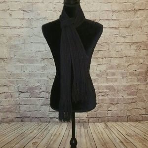 EUC metallic black Express scarf