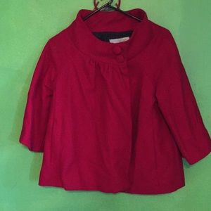 Red baby doll style jacket - Medium