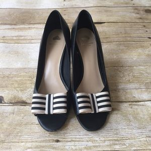 Well-Loved Kate Spade Navy Bow Heels